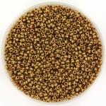 miyuki seed beads 15/0 - metallic light bronze