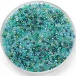 miyuki seed beads 15/0 - mix touch of teal