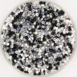miyuki rocailles 15/0 - black and white