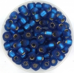 miyuki rocailles 5/0 - matte silverlined capri blue