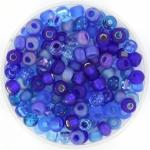 miyuki rocailles 6/0 - mix blueberry pie