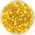 miyuki seed beads 6/0 - silverlined ab yellow