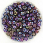 miyuki seed beads 6/0 - silverlined ab dark smoky amethyst
