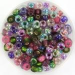 miyuki seed beads 6/0 - mix  heather