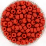 miyuki seed beads 6/0 - opaque matte terra cotta