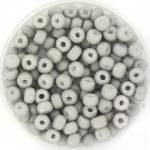 miyuki seed beads 6/0 - opaque matte gray