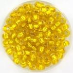 miyuki seed beads 6/0 - silverlined yellow