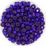miyuki seed beads 6/0 - silverlined dyed dark violet
