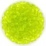 miyuki seed beads 6/0 - transparant chartreuse