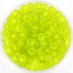 miyuki rocailles 6/0 - transparant matte chartreuse