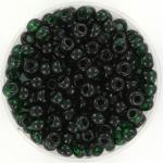 miyuki rocailles 6/0 - transparant dark emerald
