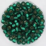 miyuki seed beads 6/0 - silverlined matte emerald