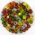 miyuki seed beads 6/0 - mix good earth