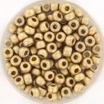 miyuki seed beads 6/0 - plated matte 24kt gold light