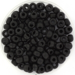 miyuki seed beads 6/0 - matte black