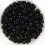 miyuki seed beads 6/0 - duracoat silverlined dyed dark navy blue