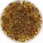 miyuki seed beads 6/0 - transparant picasso light topaz