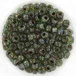 miyuki seed beads 6/0 - transparant picasso sea foam