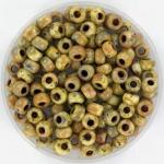 miyuki rocailles 6/0 - opaque picasso yellow