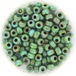miyuki seed beads 6/0 - opaque picasso turquoise blue