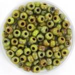 miyuki rocailles 6/0 - opaque picasso chartreuse