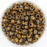 miyuki seed beads 6/0 - opaque picasso brown