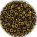 miyuki rocailles 6/0 - opaque picasso dark yellow