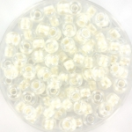 miyuki seed beads 6/0 - pearlized effect white