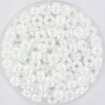 miyuki seed beads 6/0 - ceylon white pearl