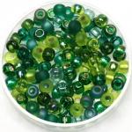miyuki seed beads 6/0 - mix ever green