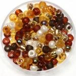miyuki rocailles 6/0 - mix golden grains