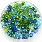 miyuki seed beads 6/0 - mix electric blue lagoon