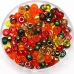 miyuki seed beads 6/0 - mix autumn
