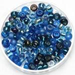 miyuki seed beads 6/0 - mix deep blue sea