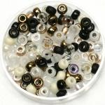 miyuki seed beads 6/0 - mix granite
