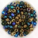 miyuki seed beads 6/0 - mix peacock garden