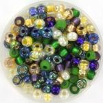 miyuki seed beads 6/0 - mix wild iris