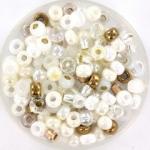 miyuki seed beads 6/0 - mix white wedding