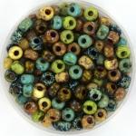 miyuki seed beads 6/0 - mix picasso nature