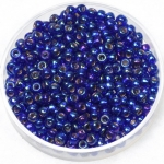 miyuki seed beads 8/0 - silverlined ab cobalt