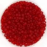 miyuki seed beads 8/0 - transparant matte ruby