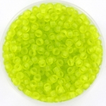 miyuki rocailles 8/0 - transparant matte chartreuse