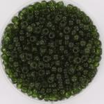 miyuki rocailles 8/0 - transparant olive