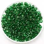 miyuki rocailles 8/0 - silverlined green