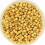 miyuki seed beads 8/0 - 24kt gold plated