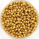 miyuki rocailles 8/0 - 24kt matte gold plated