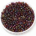 miyuki seed beads 8/0 - transparant ab topaz