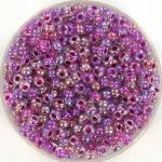 miyuki rocailles 8/0 - raspberry lined ab crystal