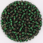 miyuki rocailles 8/0 - silverlined dark emerald