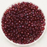miyuki rocailles 8/0 - gold luster cranberry